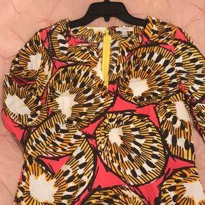 J. Crew shift dress shell print size 6